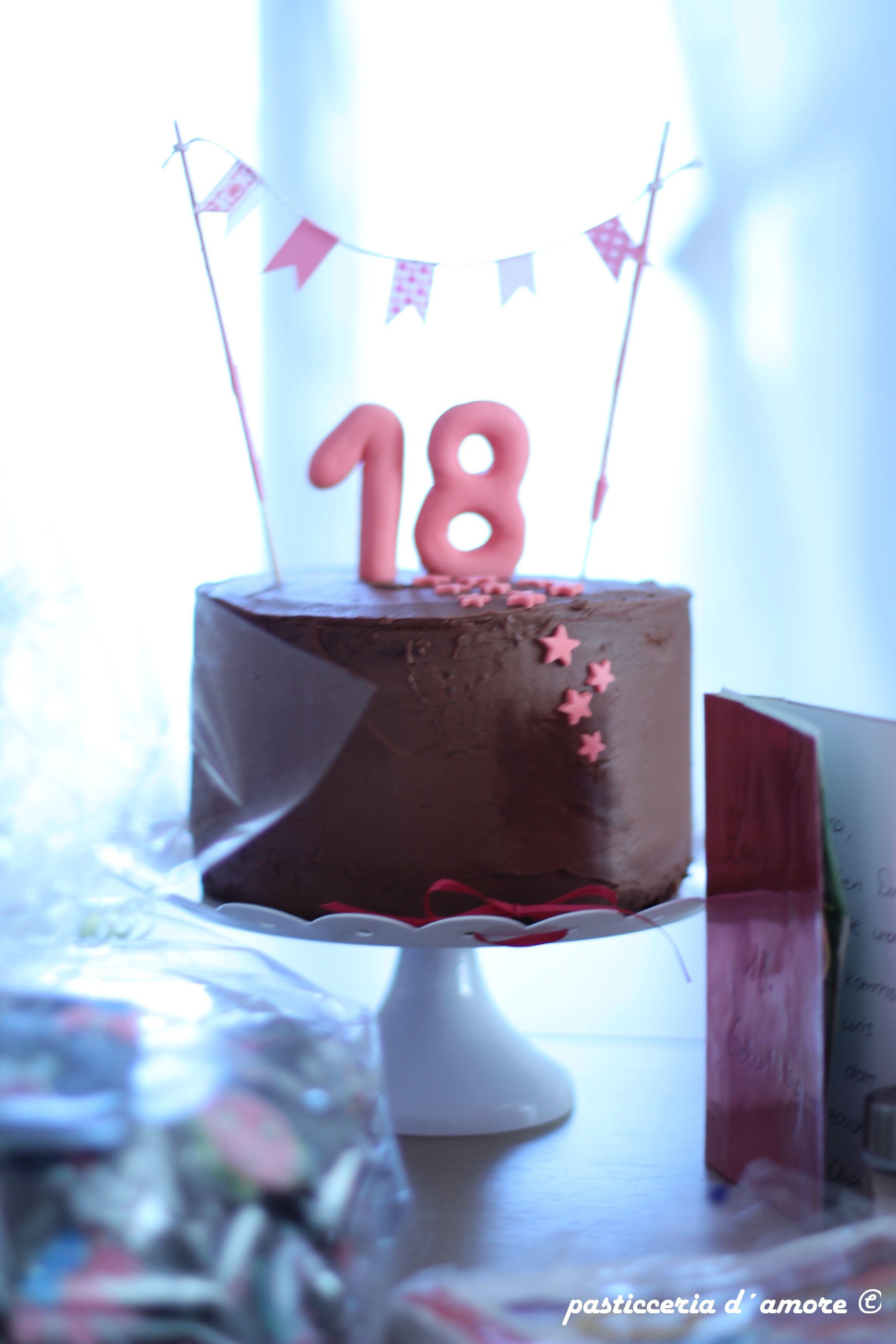 Schoko bananen geburtstagstorte zum 18 geburtstag torta compleanno con banane e cioccolato - Kuchen 18 geburtstag ...