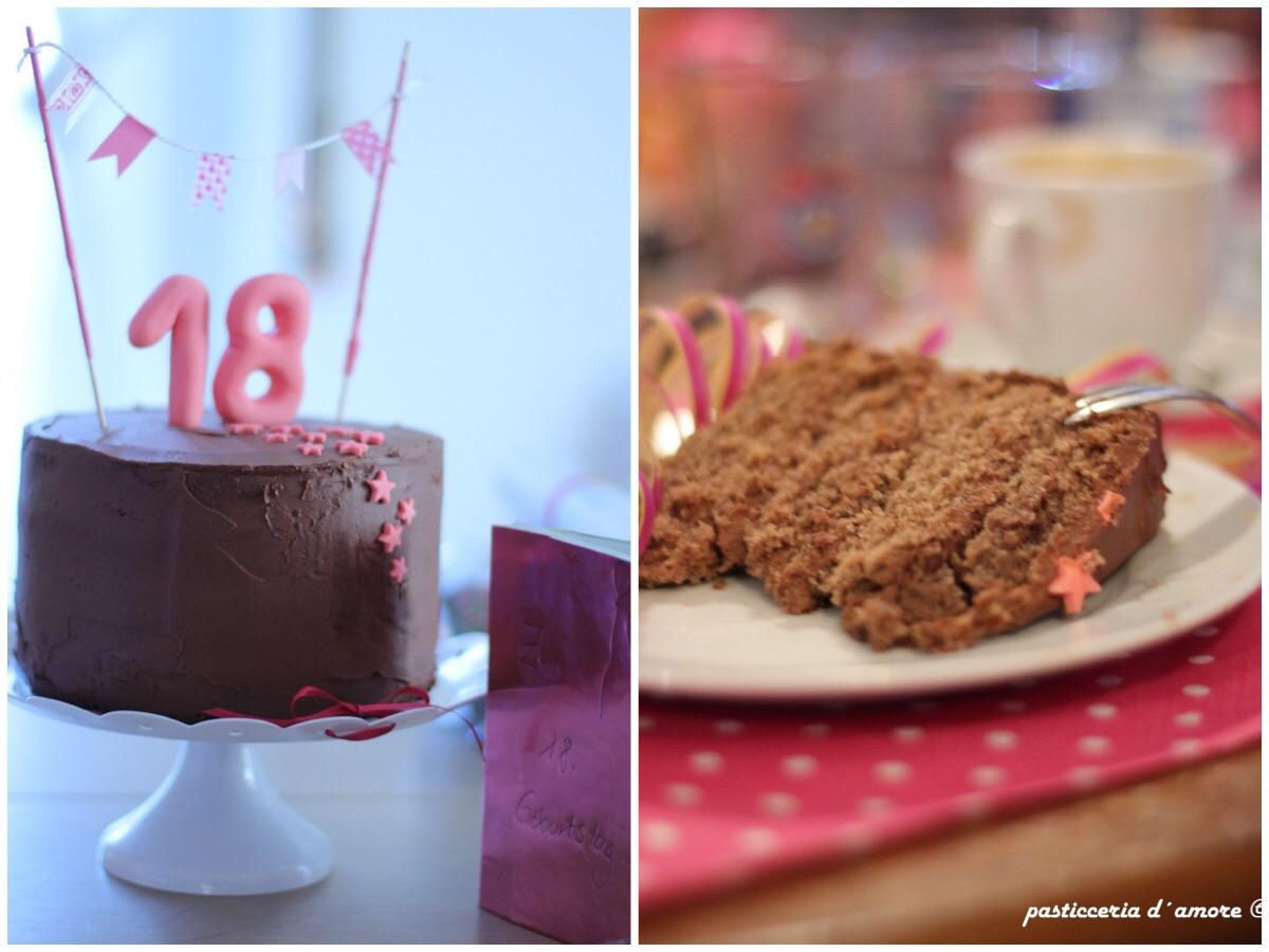 Schoko Bananen Geburtstagstorte Zum 18 Geburtstag Torta Compleanno