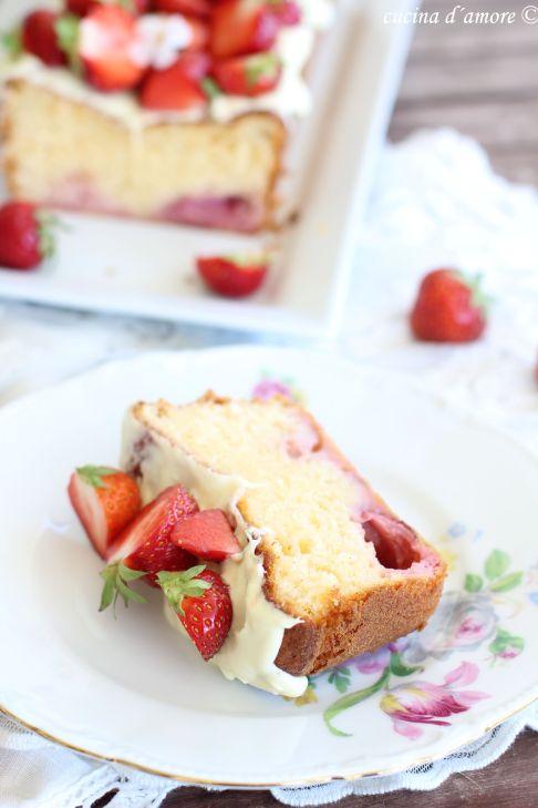 Plumcake con fragola Plumcake mit Erdbeeren (18)