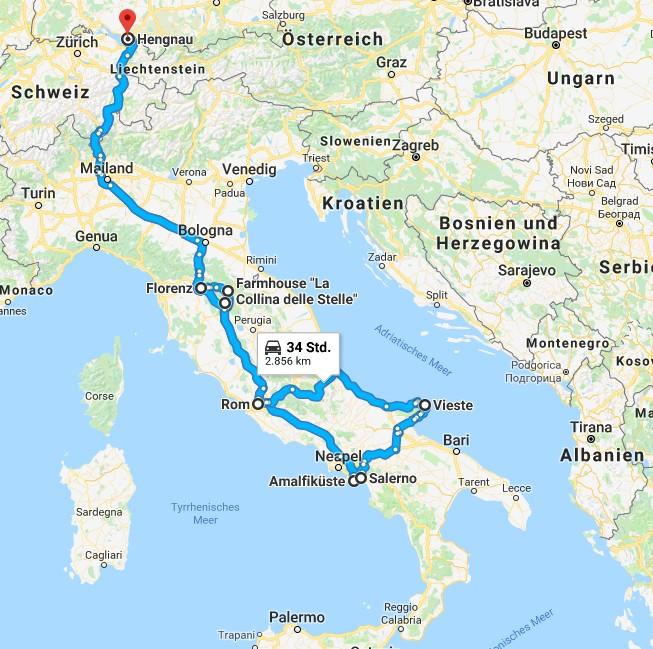 Italien-Trip